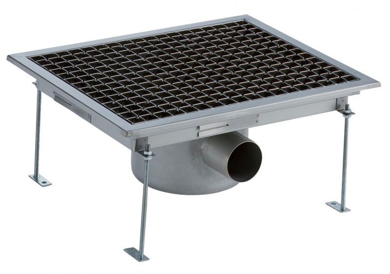 Electrolux FDD4050 FLR DRAIN+GRATE+C SIPH-HOR OUT 400X500