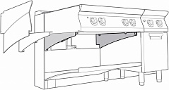 Electrolux 2SUPPTC700 2 SUPPORT BARS-TOP UNITS-CANTILEVER 700 (Code 206315), Alias 8PDX206315