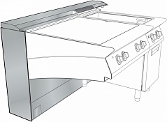 Electrolux 9AC116 WALL TYPE SUPPORT W/SERVICE DUCT 2400 MM (Code 206212), Alias 8PDX206212