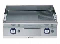 Electrolux E7FTGHSP00 GAS FRY TOP-SMOOTH+RIBBED PLATE 800 MM (Code 371032), Alias 9PDX371032