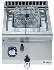 Electrolux E7FRGD1B00 7 LITRE GAS FRYER TOP 400 MM (Code 371066), Alias 9PDX371066